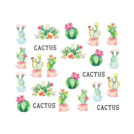 Vodonálepky s motívom Kaktus BN-1271 NechtovyRAJ.sk - Daj svojim nechtom všetko, čo potrebujú