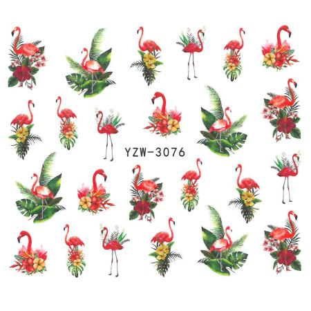 Vodonálepky s motívom plameniaka YZW-3076 NechtovyRAJ.sk - Daj svojim nechtom všetko, čo potrebujú