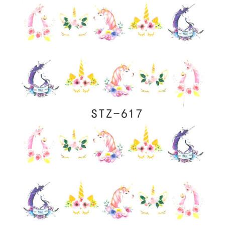 Vodonálepky na nechty jednorožec STZ-617 NechtovyRAJ.sk - Daj svojim nechtom všetko, čo potrebujú