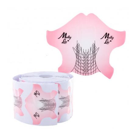 Šablóny na nechty Molly Salon Line 100ks ružové