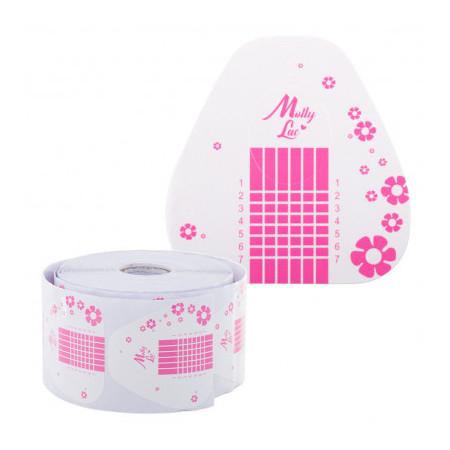 Šablóny na nechty Molly ružové kvety 100 ks NechtovyRAJ.sk - Daj svojim nechtom všetko, čo potrebujú