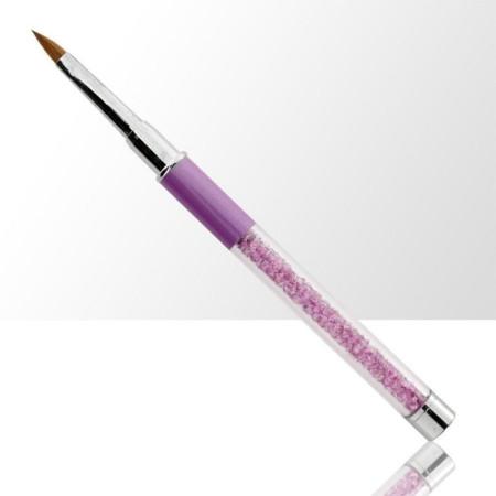 Štetec na akryl skladací, s fialovými zirkónmi č.4 NechtovyRAJ.sk - Daj svojim nechtom všetko, čo potrebujú