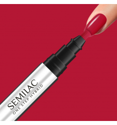 Semilac One Step gél lak S550 Pure Red