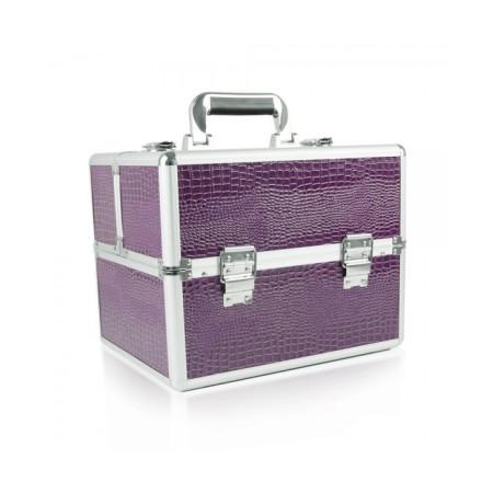 Kozmetický kufrík - fialový krokodíl NechtovyRAJ.sk - Daj svojim nechtom všetko, čo potrebujú