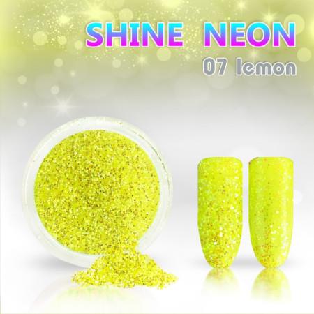 Neónový glitrový prášok 07 shine neon lemon