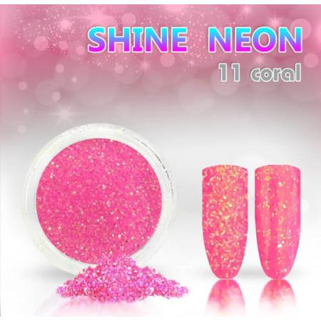 Neónový glitrový prášok 11 shine neon coral NechtovyRAJ.sk - Daj svojim nechtom všetko, čo potrebujú