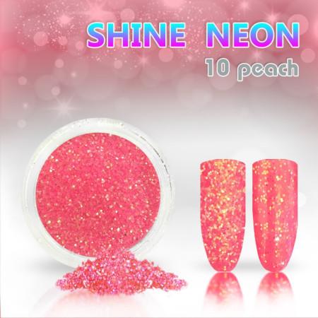 Neónový glitrový prášok 10 shine neon peach NechtovyRAJ.sk - Daj svojim nechtom všetko, čo potrebujú
