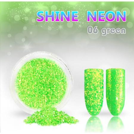 Neónový glitrový prášok 06 shine neon green