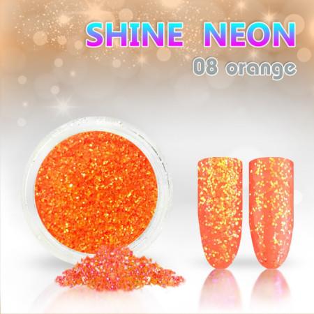 Neónový glitrový prášok 08 shine neon orange NechtovyRAJ.sk - Daj svojim nechtom všetko, čo potrebujú