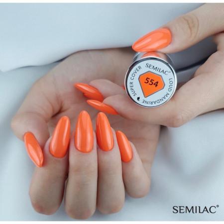 Semilac - gél lak Super Cover 554 Loud Mandarine 7 ml NechtovyRAJ.sk - Daj svojim nechtom všetko, čo potrebujú