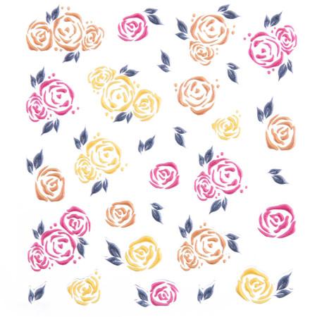 5D nálepka na nechty 566 - kvety NechtovyRAJ.sk - Daj svojim nechtom všetko, čo potrebujú