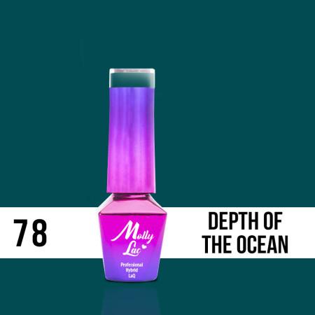 78. MOLLY LAC gél lak - Depth of the ocean 5ML NechtovyRAJ.sk - Daj svojim nechtom všetko, čo potrebujú