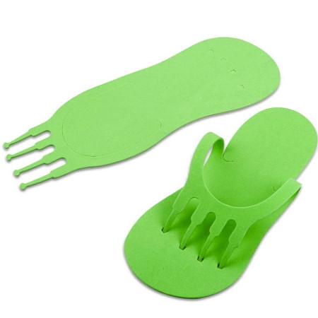 Jednorázové žabky na pedikúru zelené NechtovyRAJ.sk - Daj svojim nechtom všetko, čo potrebujú