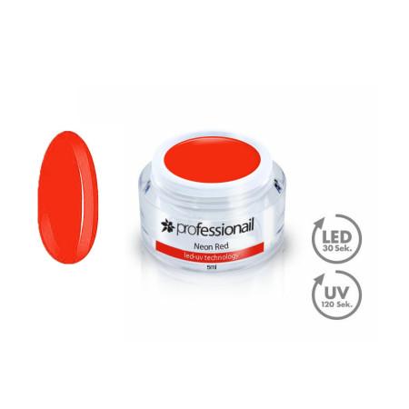 FAREBNÝ LED-UV GÉL 5ML PROFESSIONAIL™ NEON RED NechtovyRAJ.sk - Daj svojim nechtom všetko, čo potrebujú