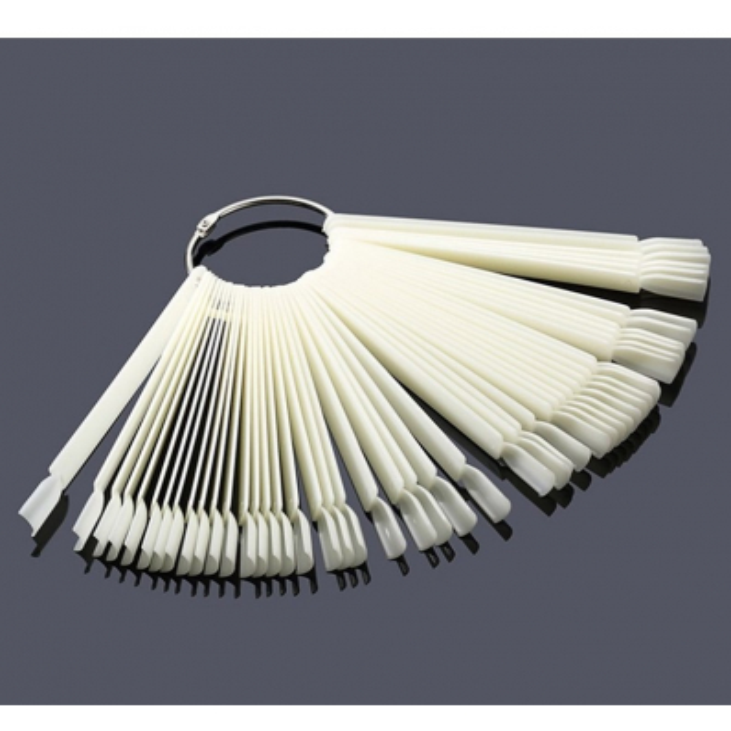 Vzorkovník na nechty na paličkách naturálny - 50 k