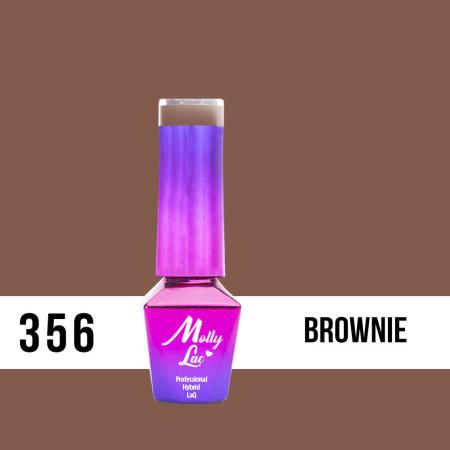 356. MOLLY LAC gél lak Choco dreams - Brownie 5ml