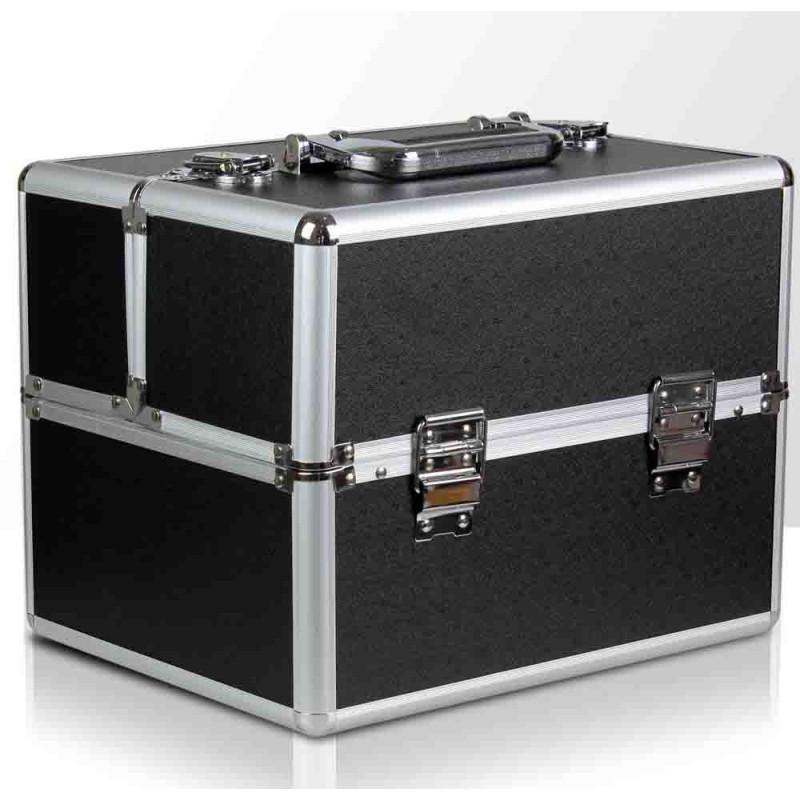 Kozmetický kufrík čierny 03 NechtovyRAJ.sk - Daj svojim nechtom všetko, čo potrebujú