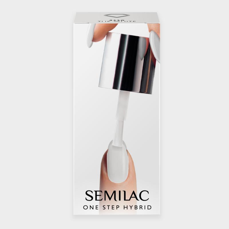 Semilac One Step gél lak S110 The White 5ml Biela