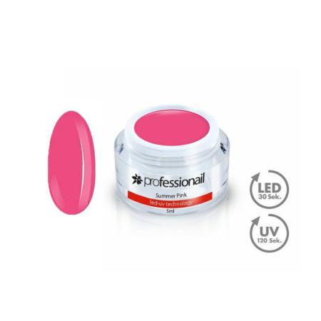 FAREBNÝ LED-UV GÉL 5ML PROFESSIONAIL™ Summer Pink NechtovyRAJ.sk - Daj svojim nechtom všetko, čo potrebujú