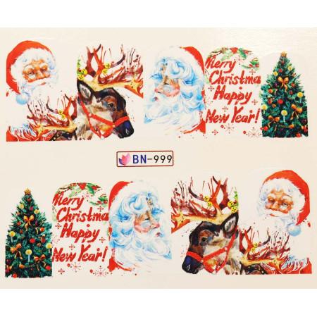Vianočná vodolepka X-mas BN999 NechtovyRAJ.sk - Daj svojim nechtom všetko, čo potrebujú
