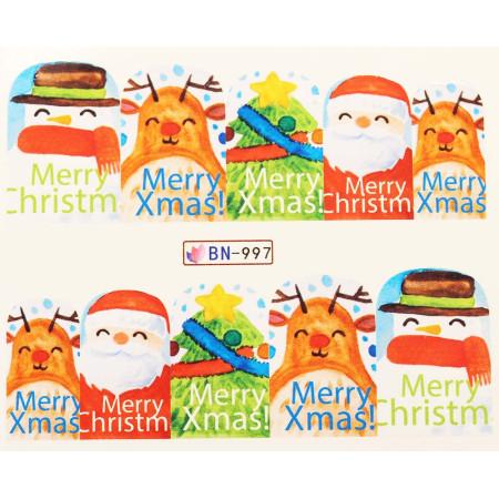 Vianočná vodolepka X-mas BN997 NechtovyRAJ.sk - Daj svojim nechtom všetko, čo potrebujú
