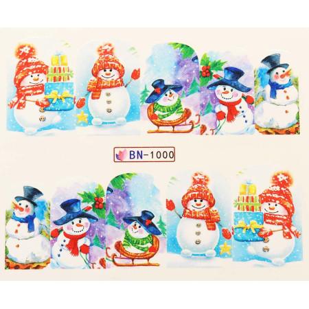 Vianočná vodolepka X-mas BN1000 NechtovyRAJ.sk - Daj svojim nechtom všetko, čo potrebujú