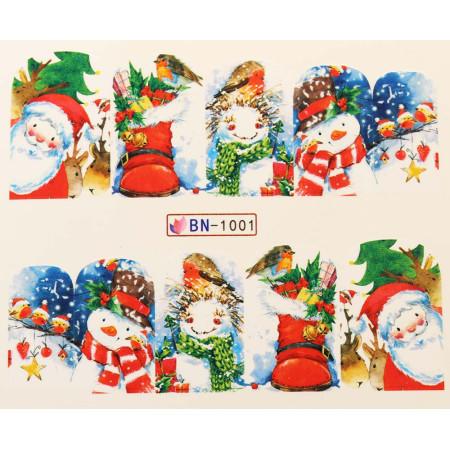 Vianočná vodolepka X-mas BN1001 NechtovyRAJ.sk - Daj svojim nechtom všetko, čo potrebujú