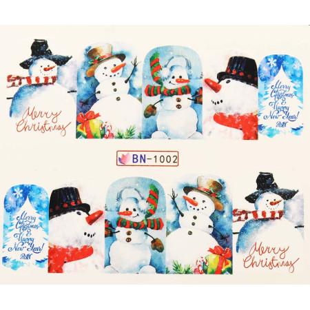 Vianočná vodolepka X-mas BN1002 NechtovyRAJ.sk - Daj svojim nechtom všetko, čo potrebujú