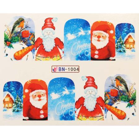 Vianočná vodolepka X-mas BN1004 NechtovyRAJ.sk - Daj svojim nechtom všetko, čo potrebujú