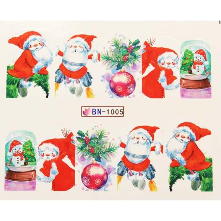 Vianočná vodolepka X-mas BN1005 NechtovyRAJ.sk - Daj svojim nechtom všetko, čo potrebujú