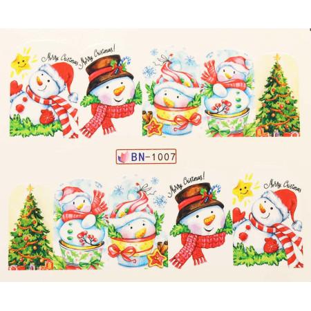 Vianočná vodolepka X-mas BN1007 NechtovyRAJ.sk - Daj svojim nechtom všetko, čo potrebujú