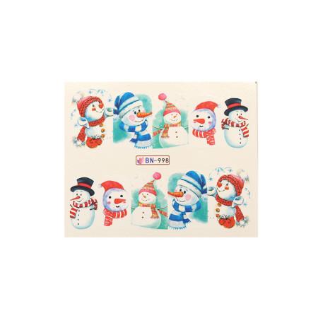 Vianočná vodolepka X-mas BN998 NechtovyRAJ.sk - Daj svojim nechtom všetko, čo potrebujú