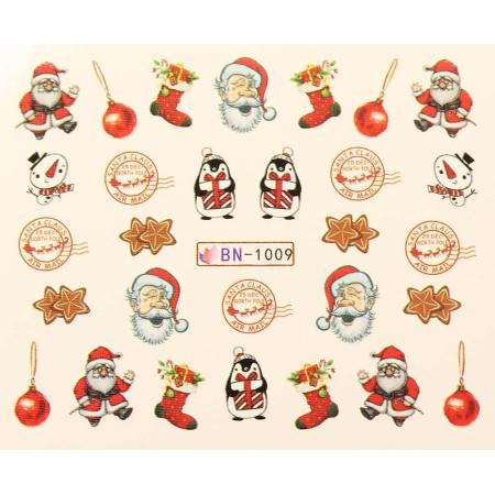 Vianočná vodolepka X-mas BN1009 NechtovyRAJ.sk - Daj svojim nechtom všetko, čo potrebujú