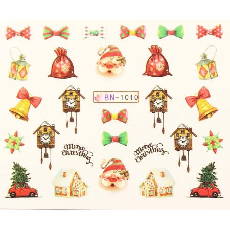 Vianočná vodolepka X-mas BN1010 NechtovyRAJ.sk - Daj svojim nechtom všetko, čo potrebujú