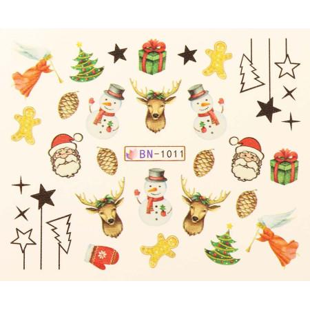 Vianočná vodolepka X-mas BN1011 NechtovyRAJ.sk - Daj svojim nechtom všetko, čo potrebujú