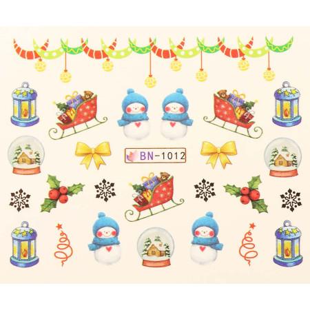 Vianočná vodolepka X-mas BN1012 NechtovyRAJ.sk - Daj svojim nechtom všetko, čo potrebujú