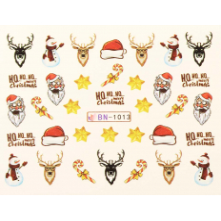 Vianočná vodolepka X-mas BN1013 NechtovyRAJ.sk - Daj svojim nechtom všetko, čo potrebujú