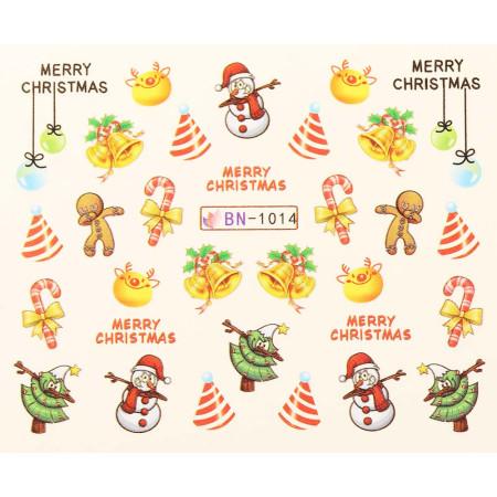 Vianočná vodolepka X-mas BN1014 NechtovyRAJ.sk - Daj svojim nechtom všetko, čo potrebujú