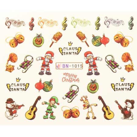 Vianočná vodolepka X-mas BN1015 NechtovyRAJ.sk - Daj svojim nechtom všetko, čo potrebujú