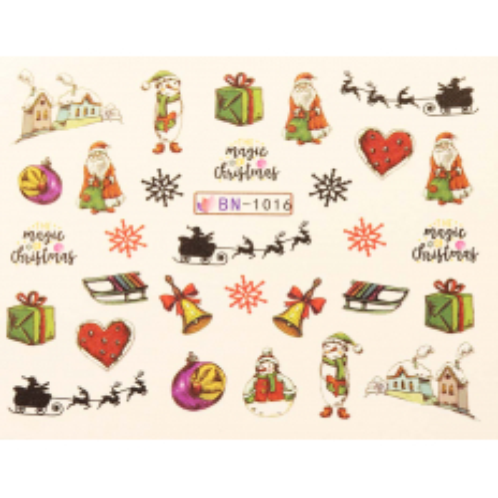 Vianočná vodolepka X-mas BN1016 NechtovyRAJ.sk - Daj svojim nechtom všetko, čo potrebujú