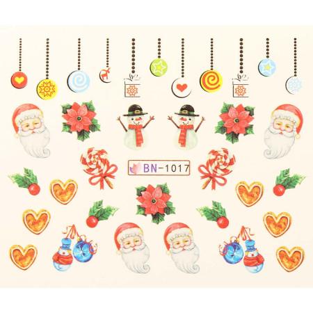 Vianočná vodolepka X-mas BN1017 NechtovyRAJ.sk - Daj svojim nechtom všetko, čo potrebujú