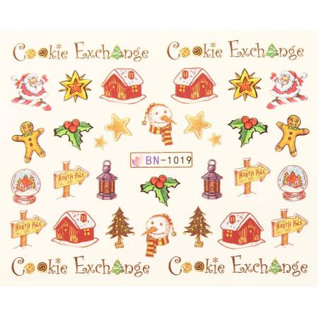 Vianočná vodolepka X-mas BN1019 NechtovyRAJ.sk - Daj svojim nechtom všetko, čo potrebujú