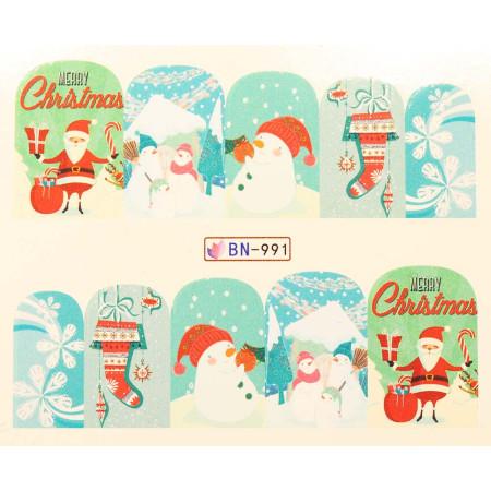 Vianočná vodolepka X-mas BN991 NechtovyRAJ.sk - Daj svojim nechtom všetko, čo potrebujú