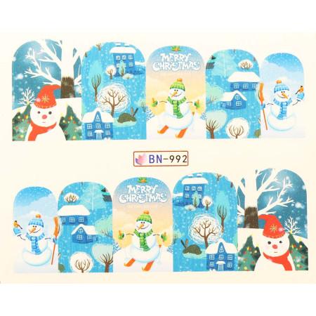 Vianočná vodolepka X-mas BN992 NechtovyRAJ.sk - Daj svojim nechtom všetko, čo potrebujú