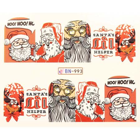 Vianočná vodolepka X-mas BN993 NechtovyRAJ.sk - Daj svojim nechtom všetko, čo potrebujú