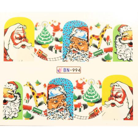 Vianočná vodolepka X-mas BN994 NechtovyRAJ.sk - Daj svojim nechtom všetko, čo potrebujú