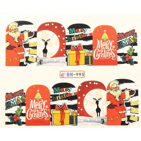 Vianočná vodolepka X-mas BN995 NechtovyRAJ.sk - Daj svojim nechtom všetko, čo potrebujú