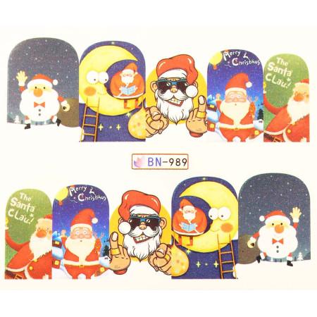 Vianočná vodolepka X-mas BN989 NechtovyRAJ.sk - Daj svojim nechtom všetko, čo potrebujú
