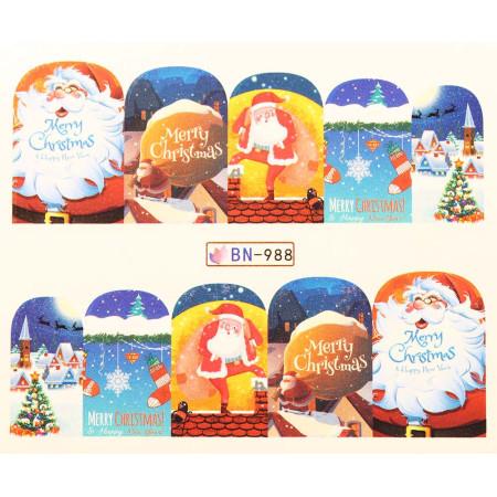 Vianočná vodolepka X-mas BN988 NechtovyRAJ.sk - Daj svojim nechtom všetko, čo potrebujú