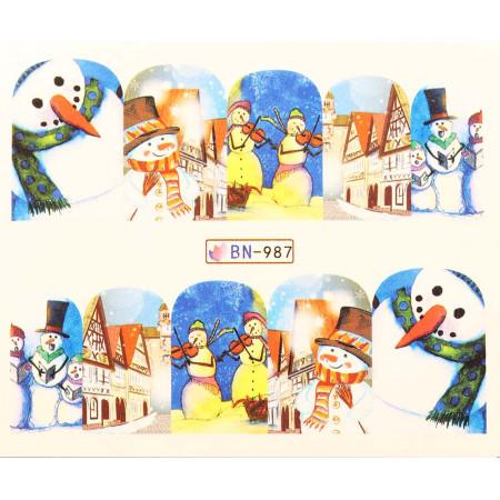 Vianočná vodolepka X-mas BN987 NechtovyRAJ.sk - Daj svojim nechtom všetko, čo potrebujú